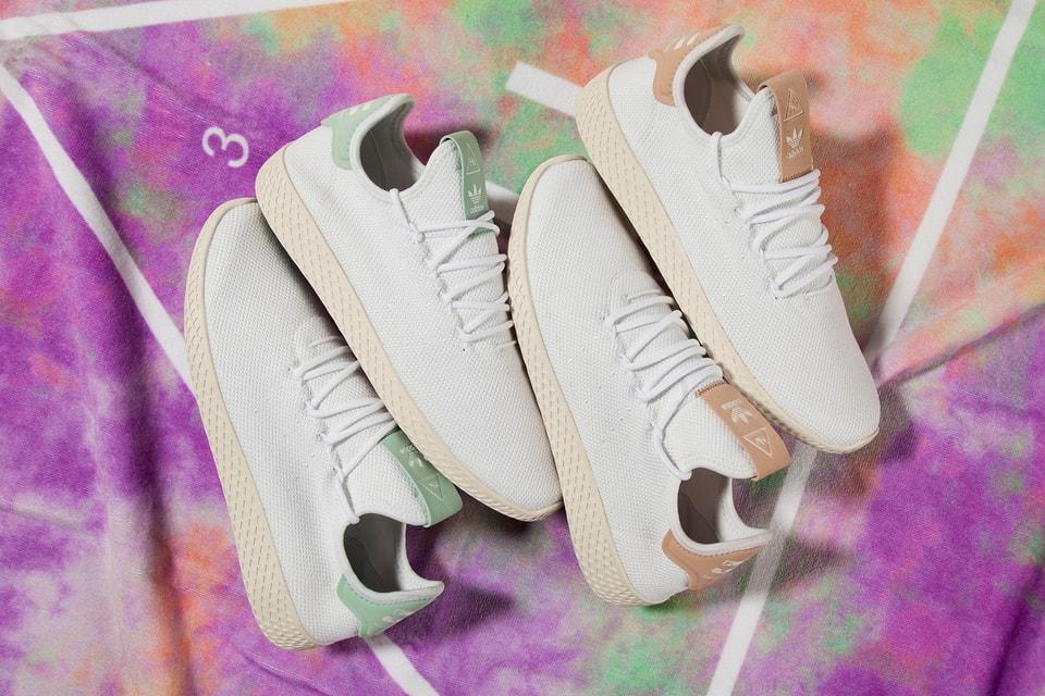 14ed0e959ce75 A Closer Look at Pharrell s adidas Originals Tennis Hu in White