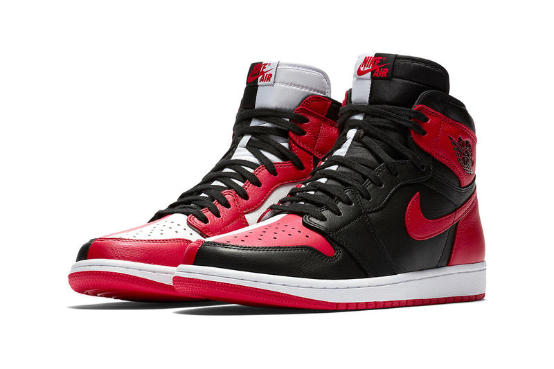 best service 29241 2b38b Air Jordan 1 Homage To Home Banned Chicago black red sneakers footwear  release drop