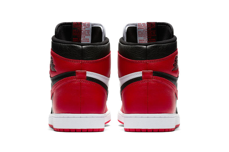 Air Jordan 1 Homage To Home Banned Chicago black red sneakers footwear release drop