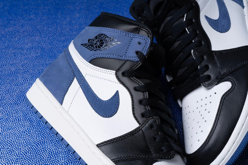 "Air Jordan 1 Retro High ""Blue Moon"" colorway release date may 1 drop info sneakers footwear"