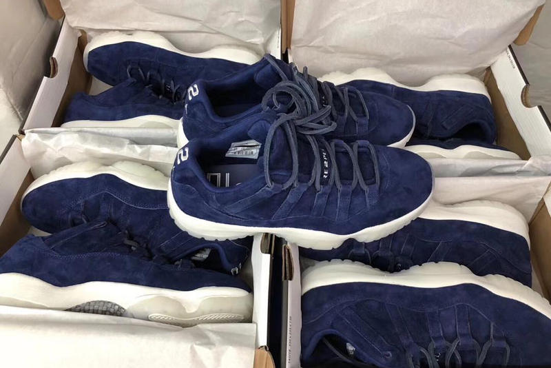 955732ba213 Derek Jeter Air Jordan 11 Low RE2PECT Release Date blue purple white  baseball new york yankees