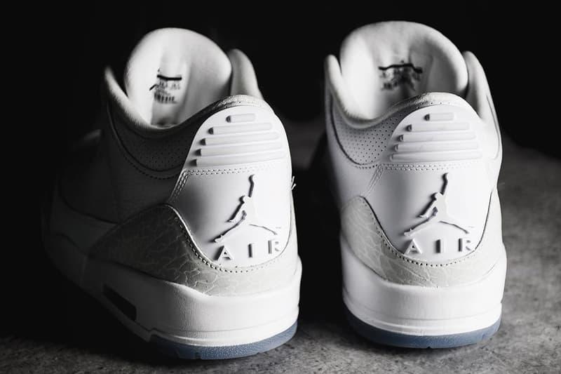 Air Jordan 3 Pure White Closer Look footwear 2018 july jordan brand