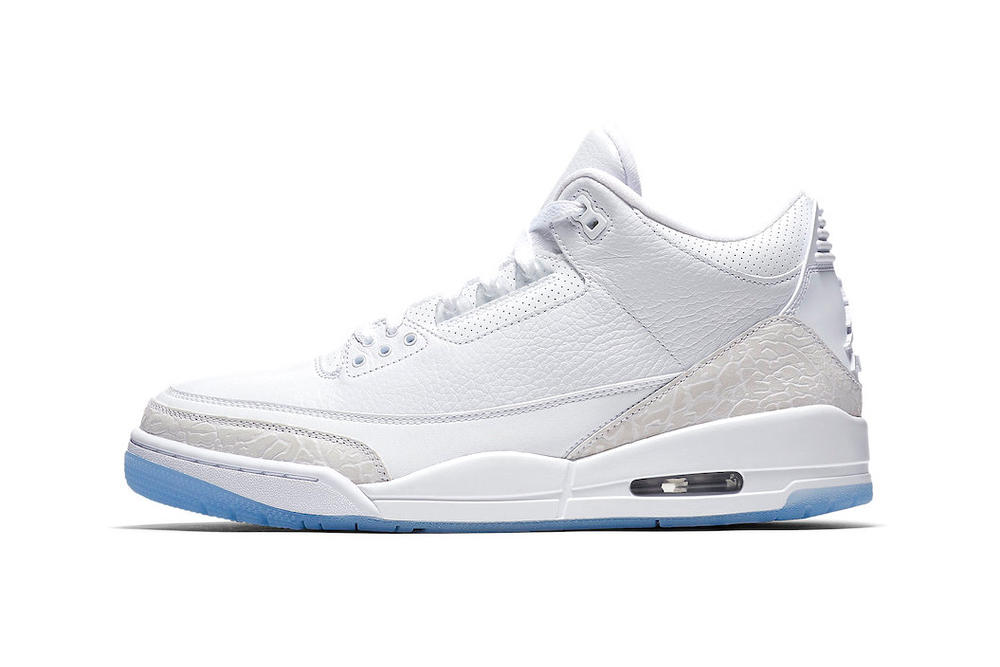 """Official Shots of the Air Jordan 3 """"Pure White"""" Emerge"""