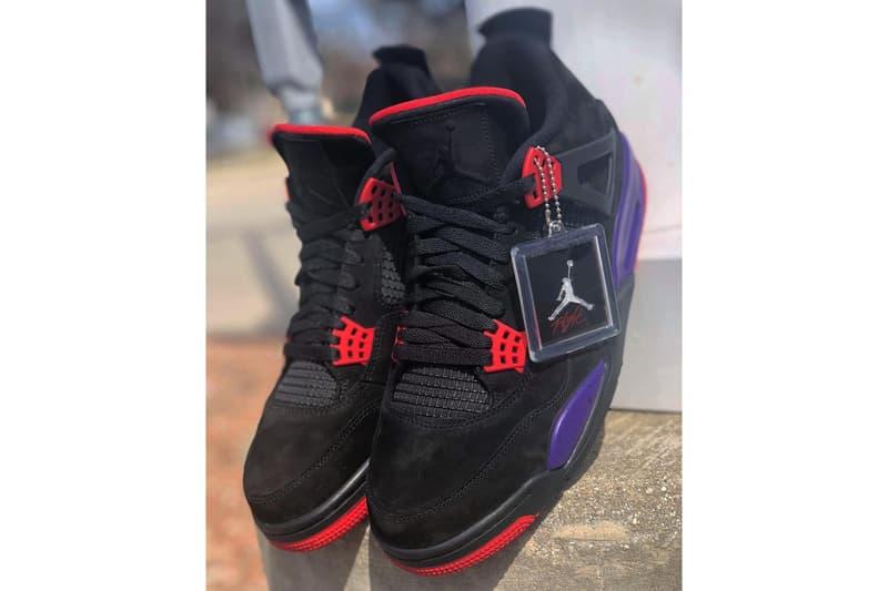 Air Jordan Brand 4 Raptors Colorway Unveil first look