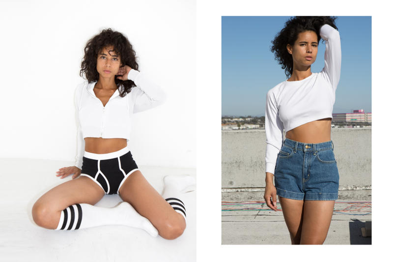 American Apparel Re-Launches Global Web Store Gildan Back to Basics Dov Charney Campaign Lookbook T-Shirts Sweatshirts Jersey