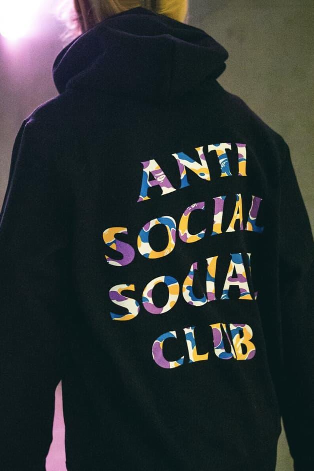 Anti Social Social Club BAPE Release Los Angeles Hoodie T-shirt Cap Hat Camo Neek Lurk For Sale Pricing Availability