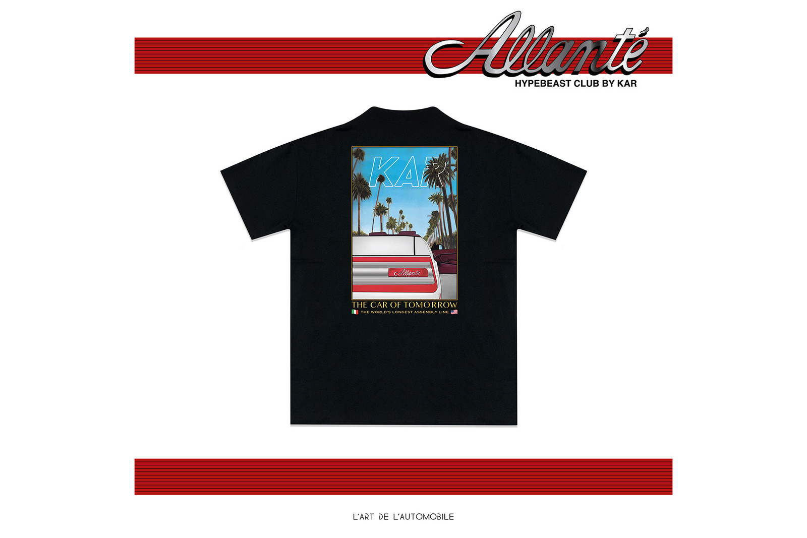 HB x L'Art De L'Automobile Exclusive LA Pop-Up HYPEBEAST ARTHUR KAR Cadillac Allante Sunset Car Wash Kar Wash