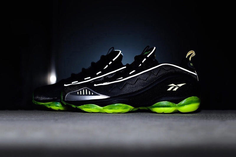 atmos Reebok DMX Run 10 black neon green april may 2018 release date info drop sneakers shoes footwear collaboration tokyo japan