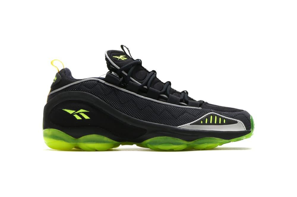 atmos Reebok DMX Run 10 Black Neon Yellow april 29 2018 release date info drop sneakers shoes footwear