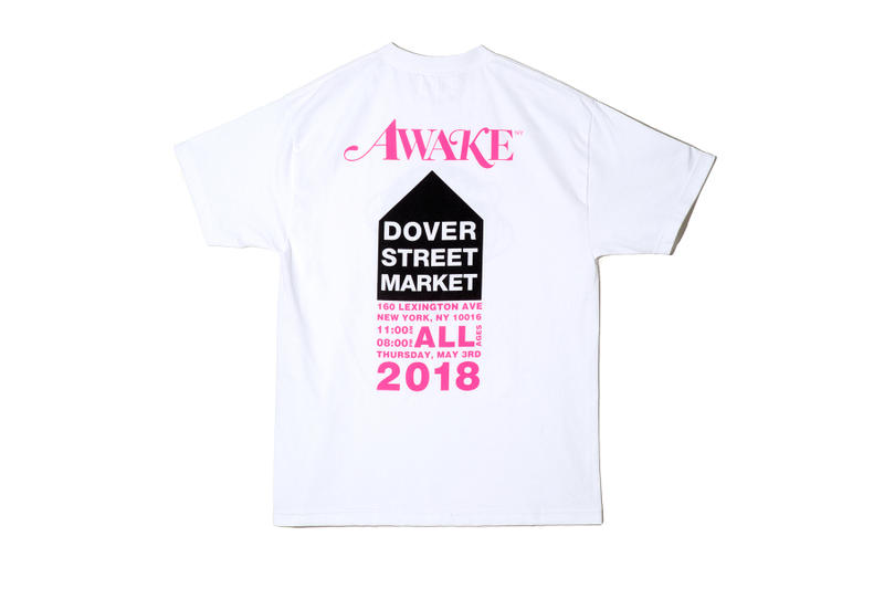 Awake NY Dover Street Market Spring Summer 2018 Drop SS18 tee shirt collaboration collection debut release installation may 3 limited edition co branding angelo baque