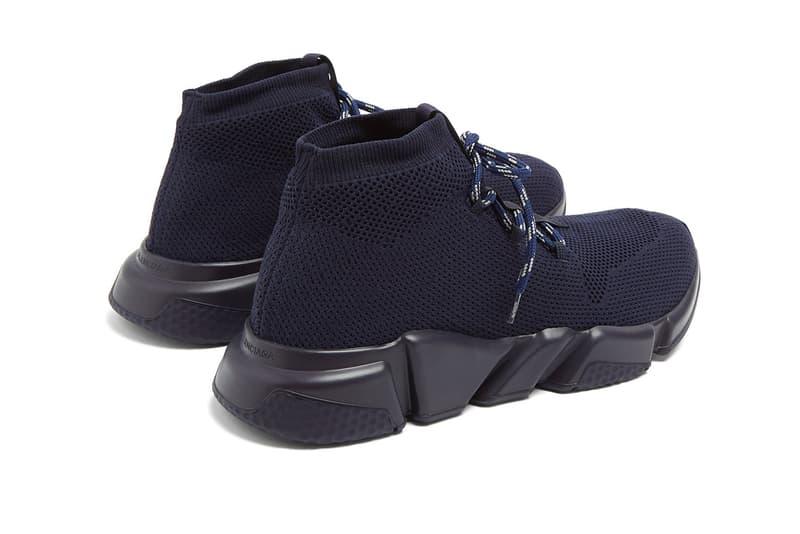 Balenciaga Lace-Up Speed Trainer Navy release info sneakers footwear demna gvasalia