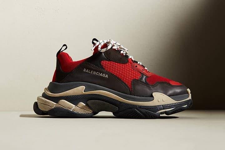 Balenciaga Triple S Bred footwear 2018 release date info drop black red sneakers shoes footwear END