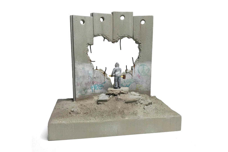 banksy walled off hotel wall section souvenir art artwork collectible