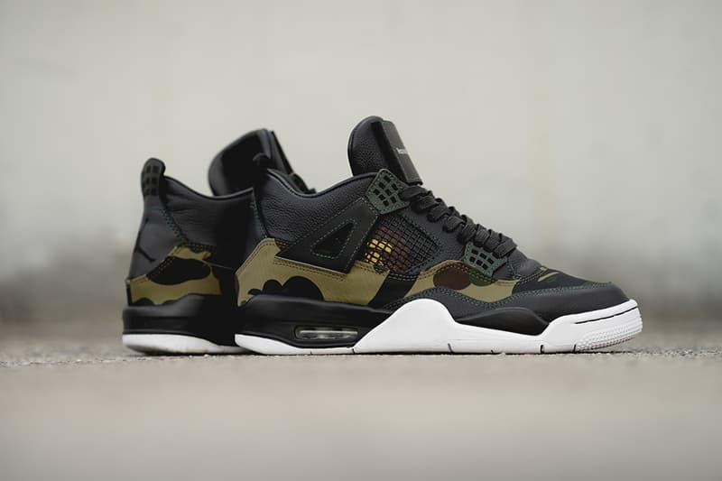 buy online ef0c6 8d059 BAPE x Air Jordan 4 GORE-TEX BespokeIND Custom | HYPEBEAST