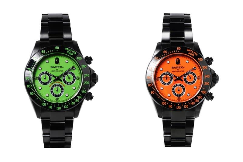 BAPE Black Type 3 BAPEX Watches orange green 2018 release date info drop