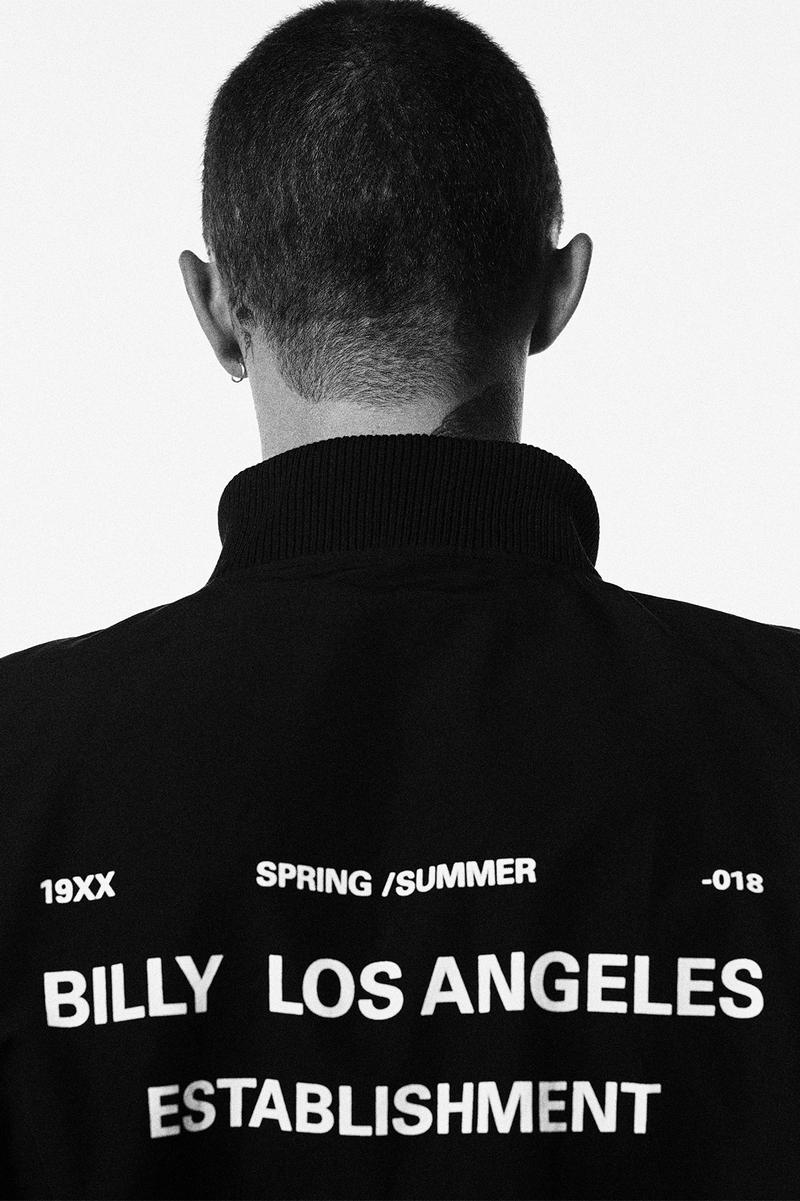 BILLY Spring Summer 2018 Collection Lookbook ESTABLISHMENT release info