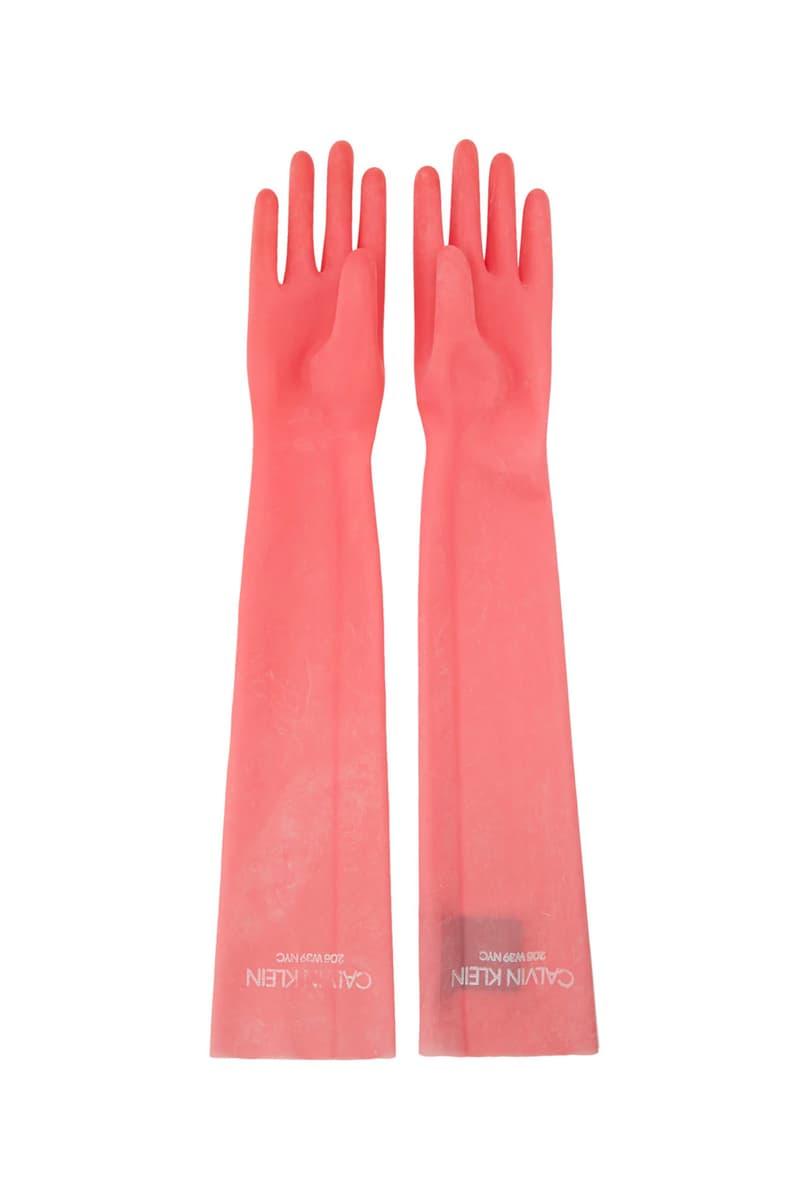 Calvin Klein $390 USD pink Rubber Gloves CALVIN KLEIN 205W39NYC
