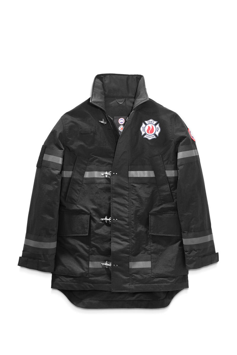 Canada Goose FDNY fire department new york The Bravest Coat collaboration charity april 6 2018 drop release