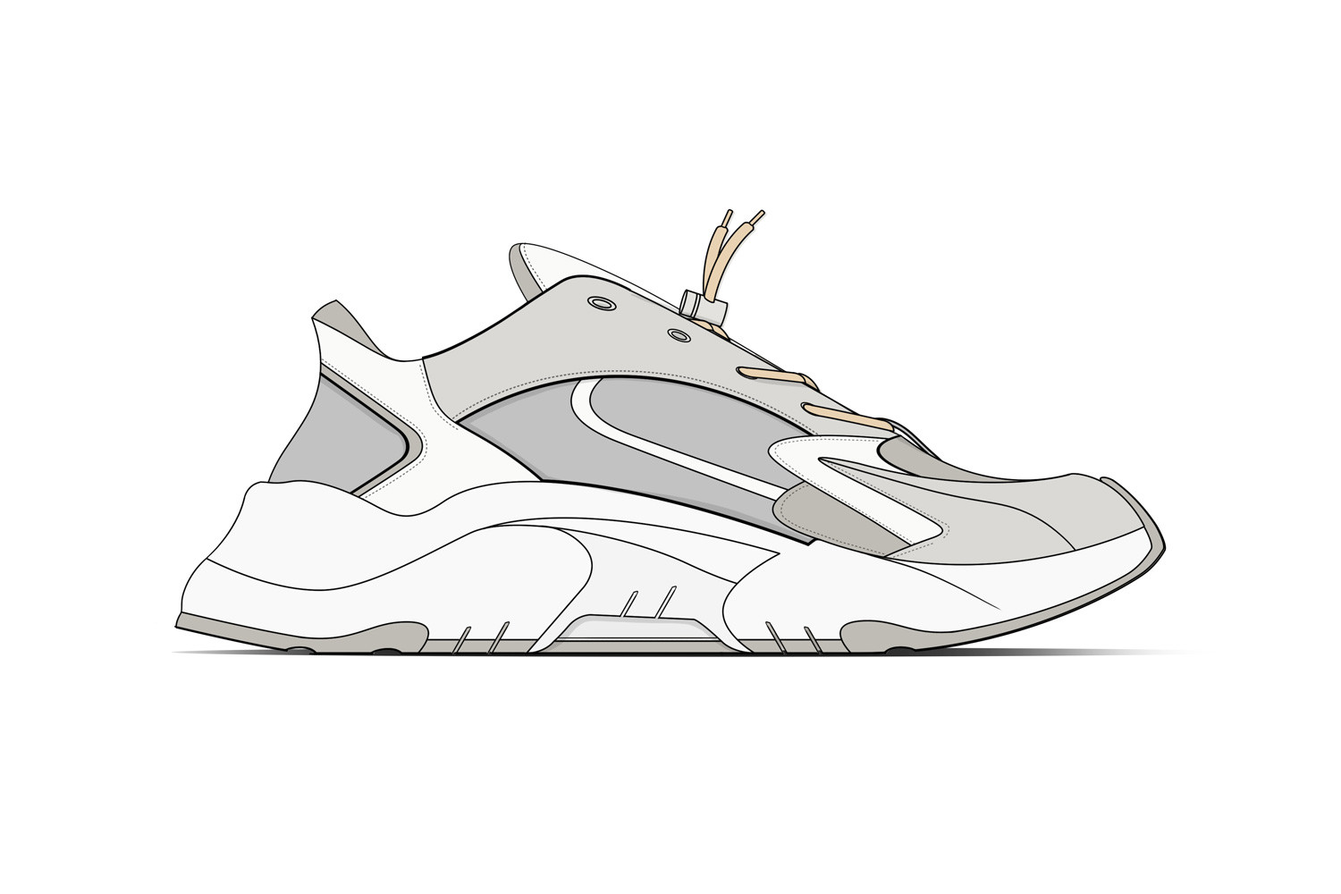 Chunky Dad Sneaker Future Concept