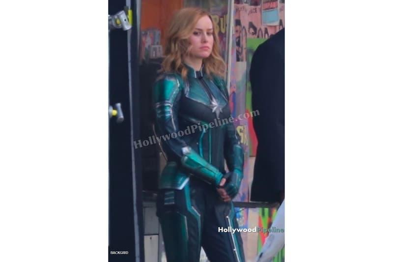 'Captain Marvel' Set Photos brie larson carol danvers Samuel L. Jackson Nick Fury S.H.I.E.L.D. marvel cinematic universe