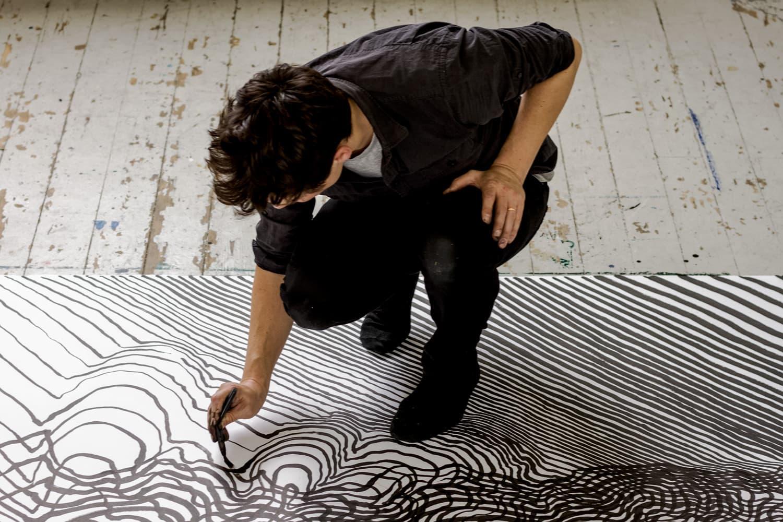 "Carl Krull Creates Massive Ink Drawings for Latest ""Resonance"" Exhibit"