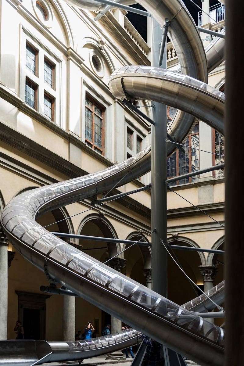 Carston Holler 60 Foot Slides Florence Palazzo Strozzi