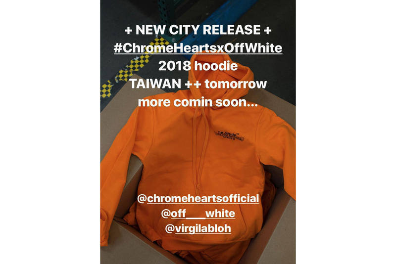Off-White™ x Chrome Hearts Hoodies Asia Release