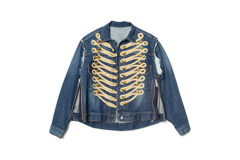 Sacai Chrome Hearts Dover Street market ginza new york london singapore japan exclusive leather shirt denim jackets drop release april 14 21 2018 info date collection
