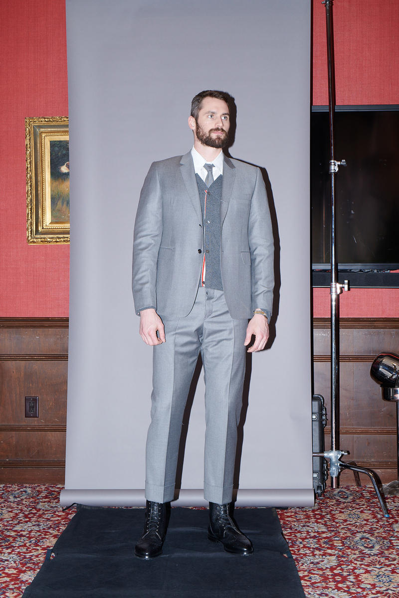 Cleveland Cavaliers Thom Browne Suit Project behind the scenes lebron james dwyane wade kevin love jr smith tristan thompson Tyronn Lue custom bespoke