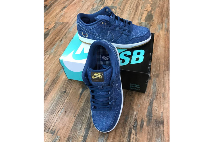 classic fit d3154 3d3ca Closer Look at the Nike SB Dunk Low From the Upcoming Denim Pack