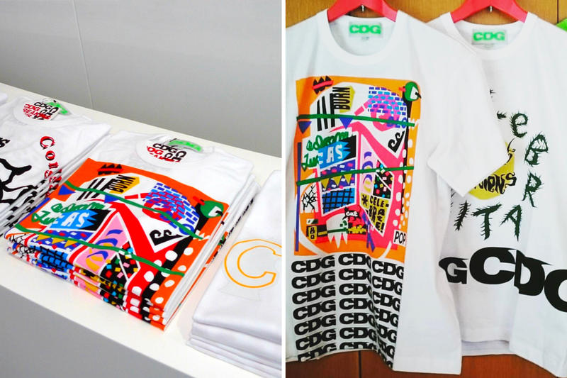 Adam Lucas COMME des GARÇONS cdg Collaboration art t-shirts collection