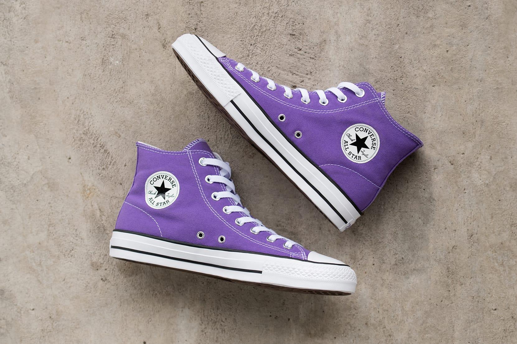 purple chucks
