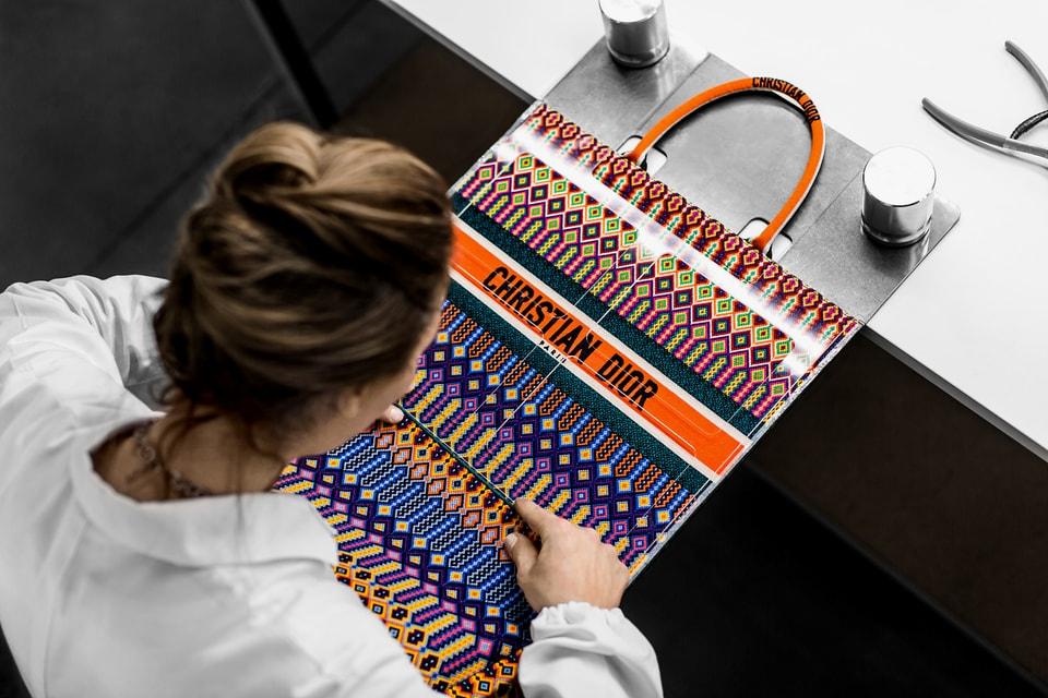 6625f45e11dc Dior Embroidered Book Tote Bag Making of Video