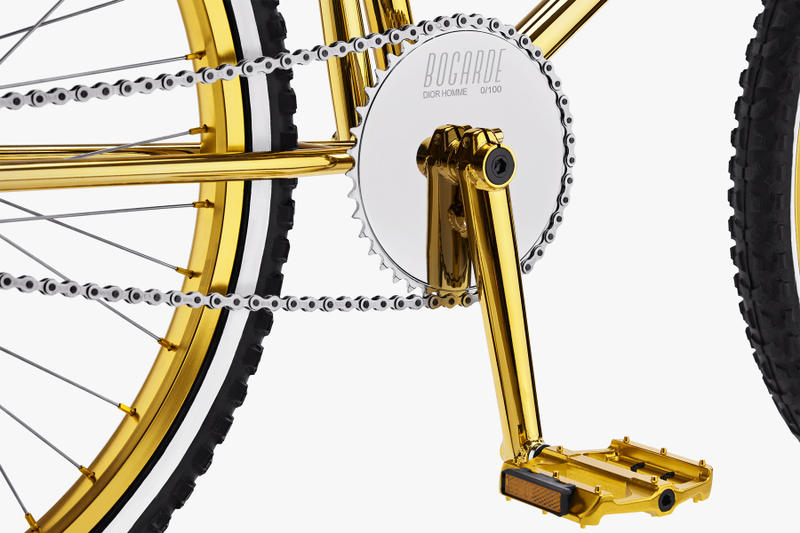 Dior x Bogarde Gold BMX bike colorway collaboration 100 bicycle limited edition april 20 2018 leather