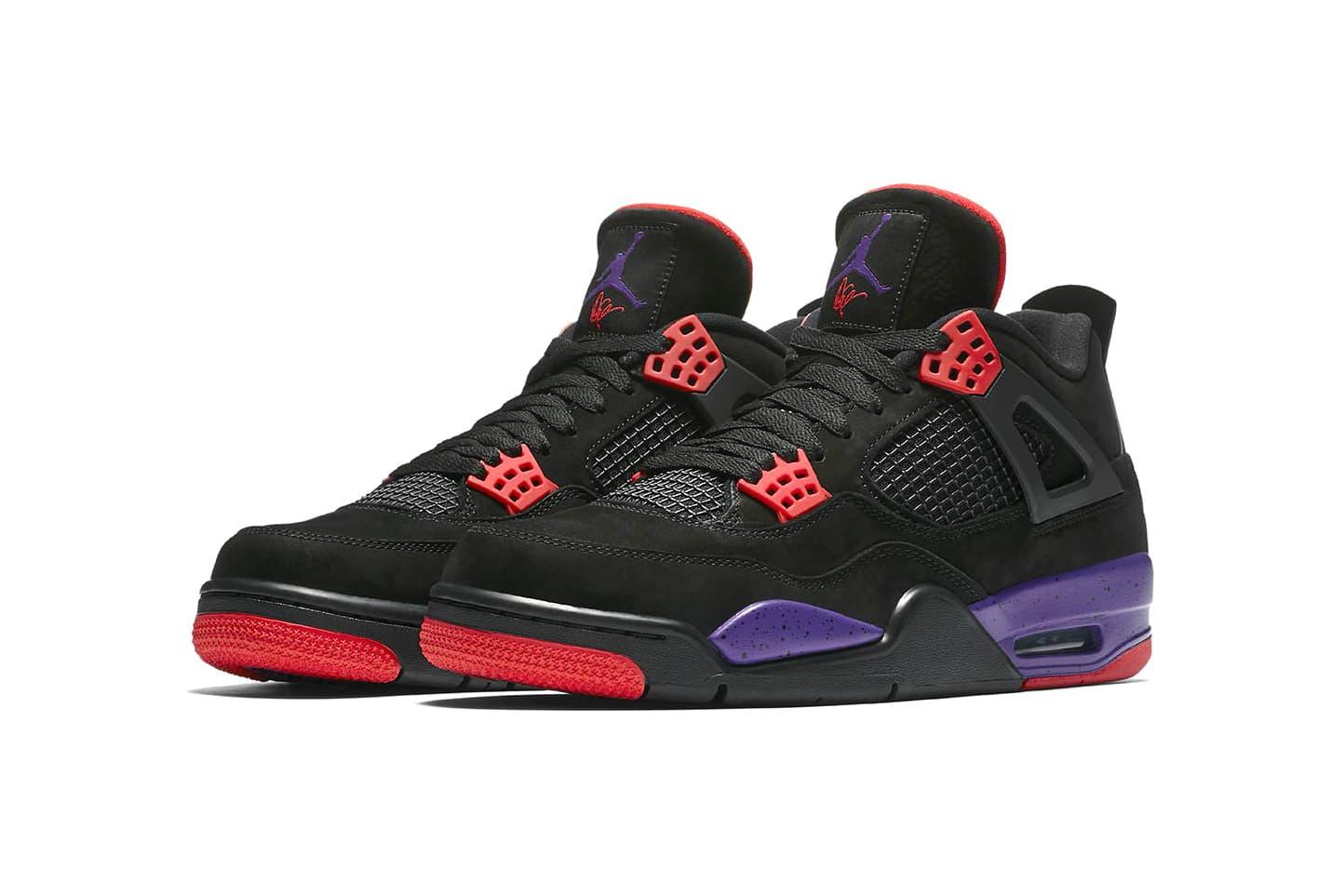 "Air Jordan 4 ""Raptors"" Emerges With Drake's Signature on Tongue"
