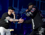 Watch Eminem Perform With 50 Cent and Dr. Dre at Coachella