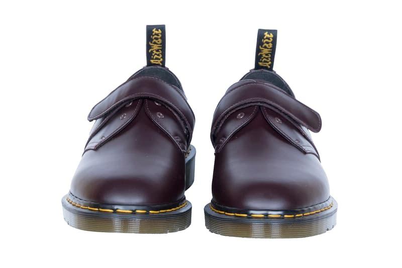 Engineered Garments Dr. Martens Daiki Suziki 1461 Low-Top 3-Eye Velcro Closer Look Milk Shake khaki navy Oxblood black white shoes footwear Nepenthes