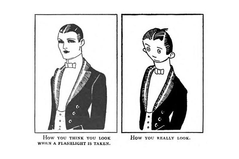 first meme expectation vs reality 1921 comic strip University of Iowa The Judge magazine