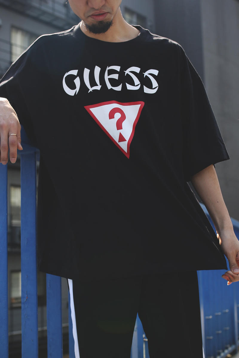 FREAKS STORE GUESS Big T Shirt tee white black april 2018 release date info drop oversized japan collaboration