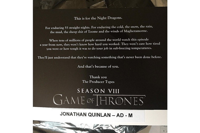 Game of Thrones Season 8 Battle Scene 55 Night Shoot Film HBO