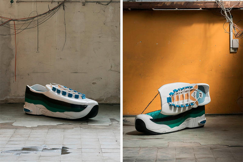 Giant Air Max 95 Coffin Paa Joe Artist Ghanian Berlin Mixed Pickle exhibit