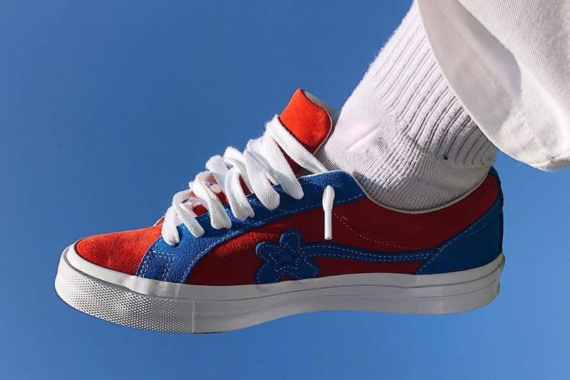 9e142d3163a6 GOLF le FLEUR Red Blue Leo Mandella Converse One Star Tyler The Creator  Sneaker Footwear Trainers