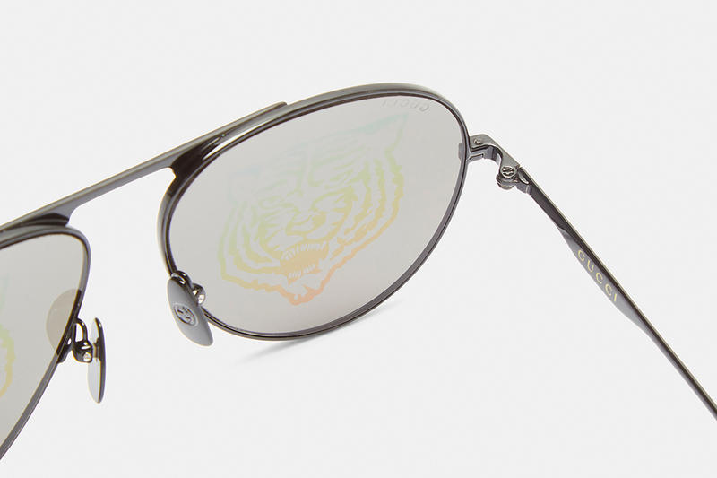 Gucci Aviator Iridescent Tiger Prints Sunglasses shades release info accessories