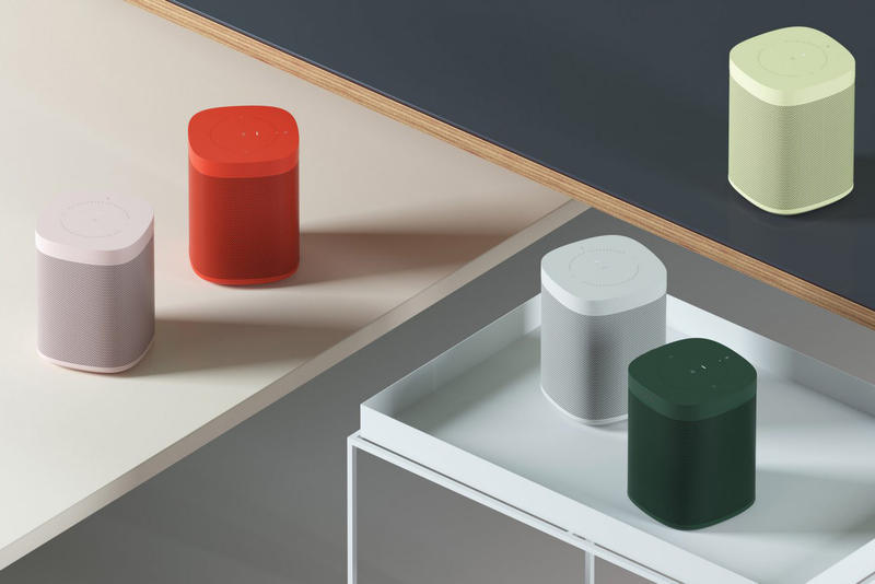 Hay and Sonos Limited Edition Speakers Milan Design Week 2018 Interior Design Inspiration Technology Audio Play 1 One Apple AirPlay