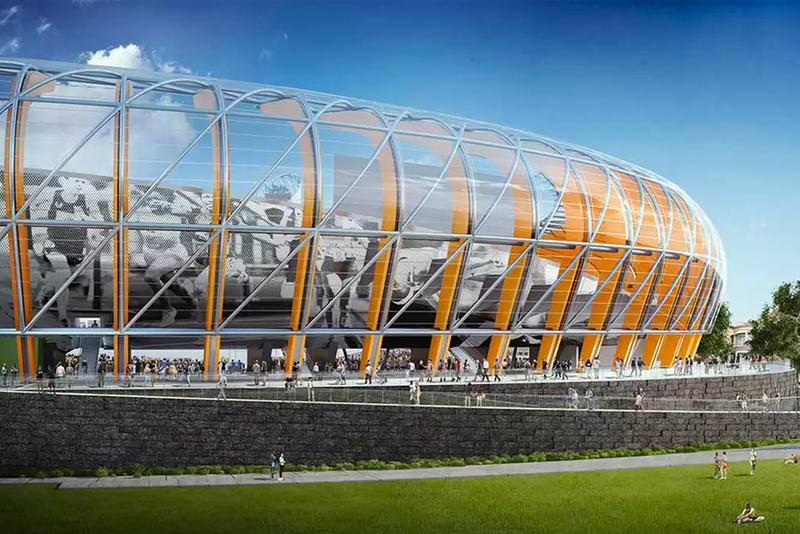 Hayward Field New Stadium Design University of Oregon rendering photo phil knight Nike