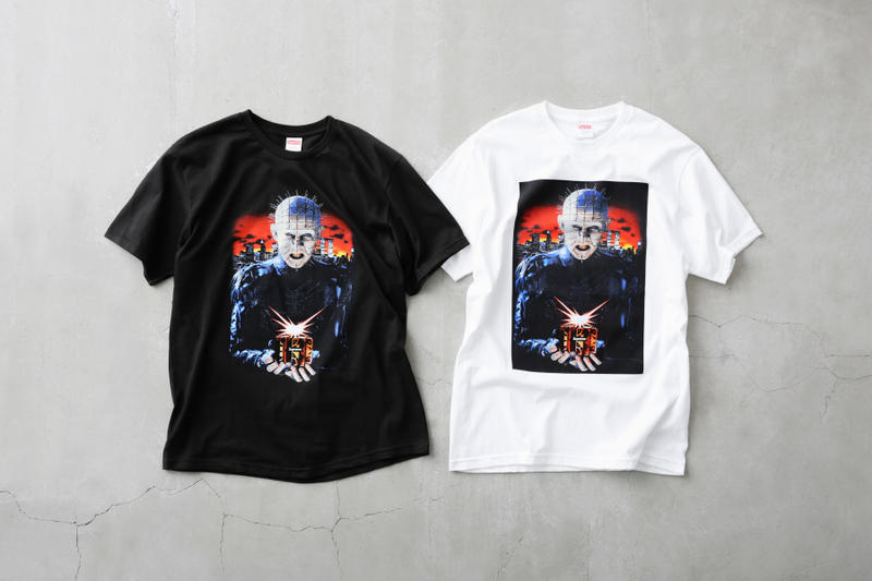 Hellraiser x Supreme Spring 2018 Collection Horror Movies Fashion Supreme New York Gore Scary Movies Entertainment Pinhead Streetwear