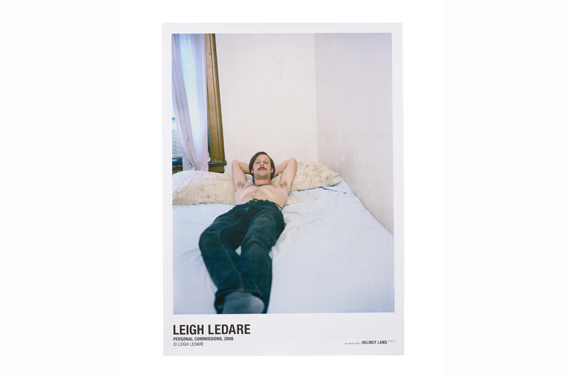 Helmut Lang Leigh Ledare Artist Series T-Shirts collection posters price