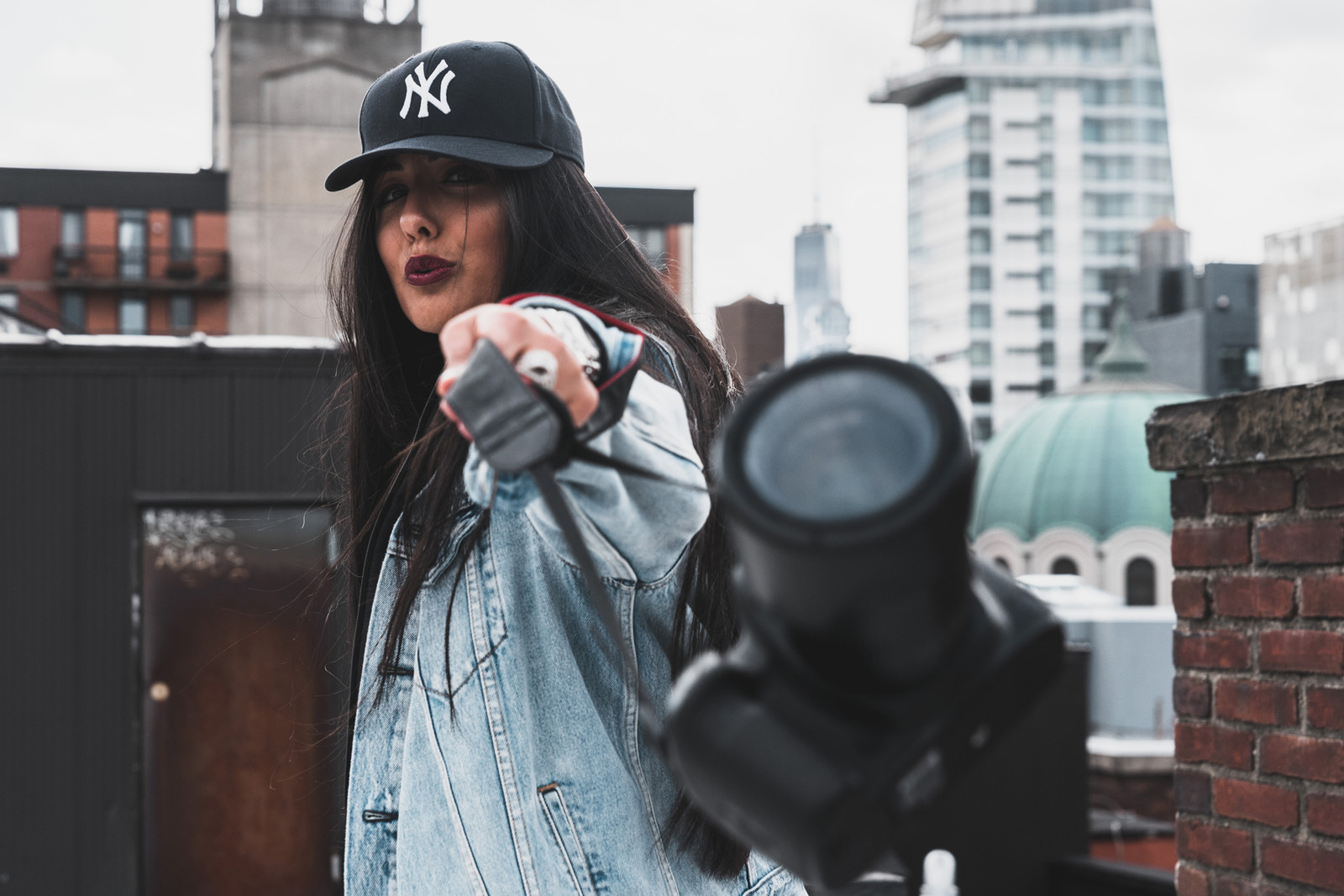 Natalie Amrossi Misshattan HIDDEN HYPEBEAST Aerial Photography Helicopter KITH Ronnie Fieg Canon Photos Instagram Scenic New York City Roof