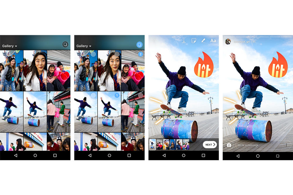 Instagram Stories Share Multiple Photos Videos Android