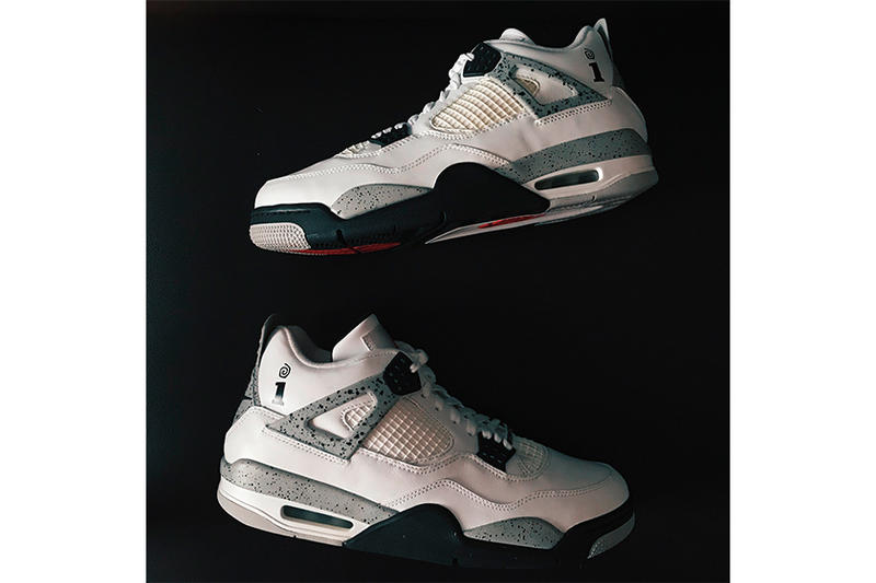 Interscope Records Air Jordan 4 First Look White Cement
